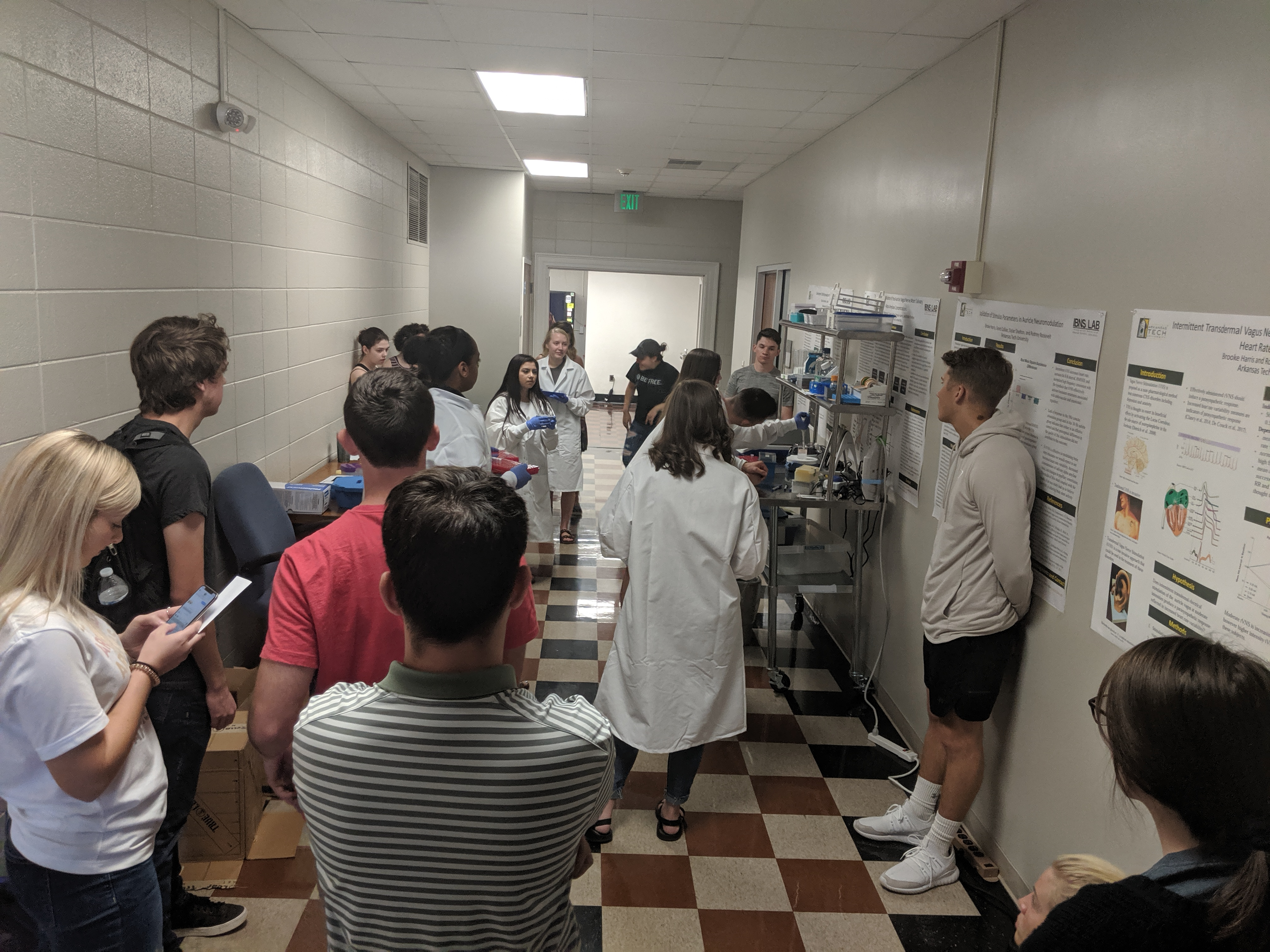 Students in a lab