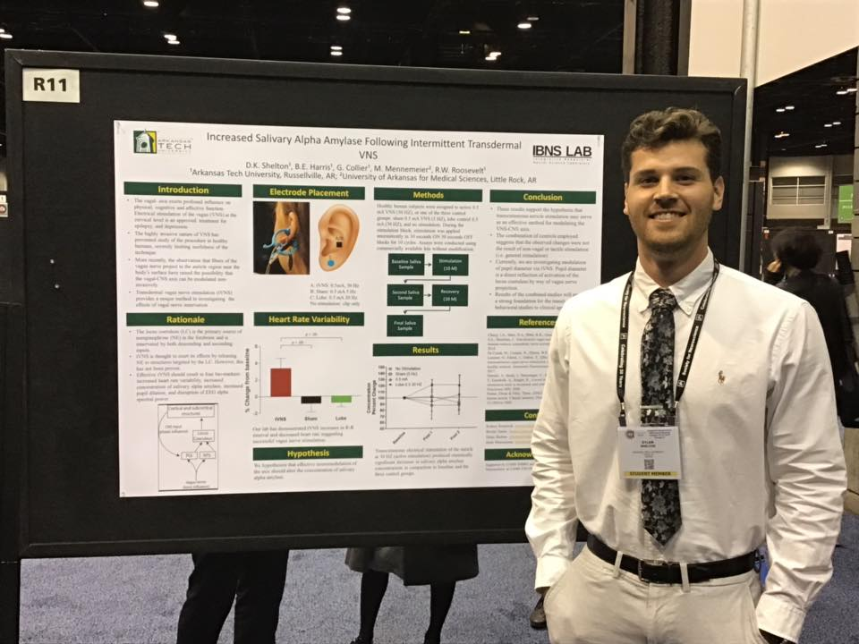 Dylan Shelton at Society for Neuroscience