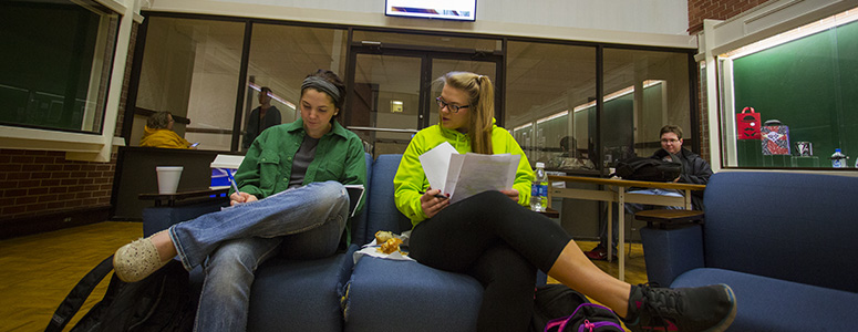 students studying in witherspoon hall
