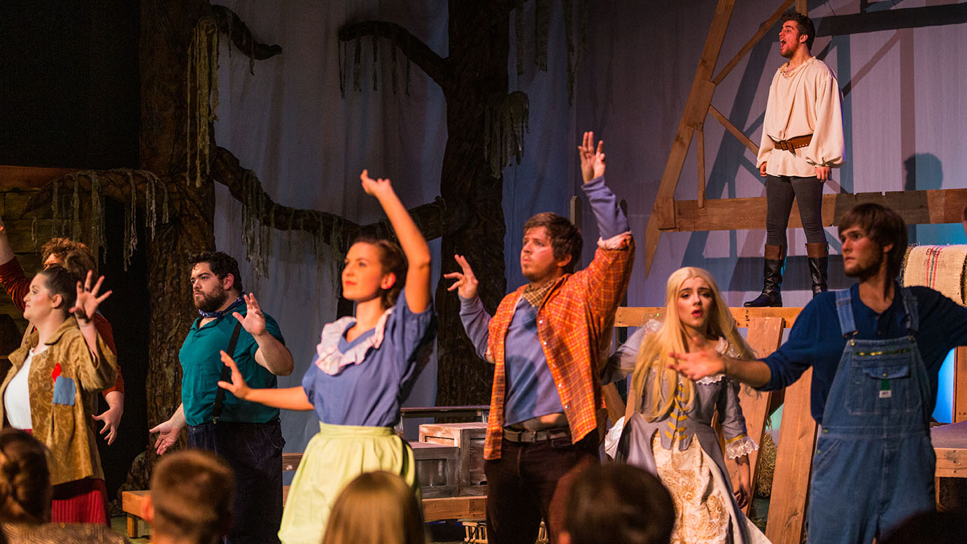 The student cast of the Robber Bridegroom perform a scene