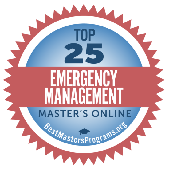Ranked among the top 25 Online Emergency Management Programs