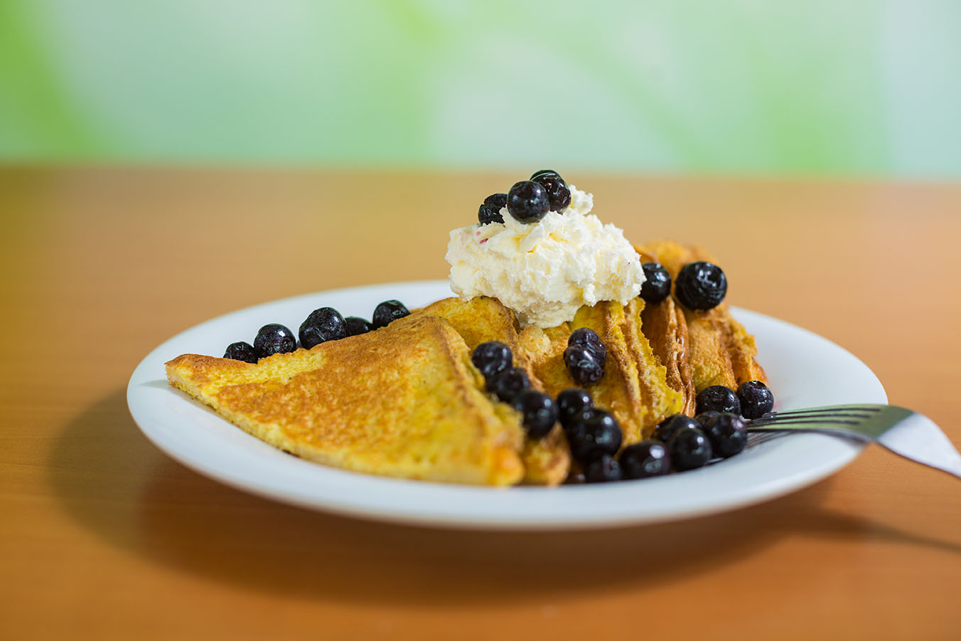 a photo of blueberry french toast