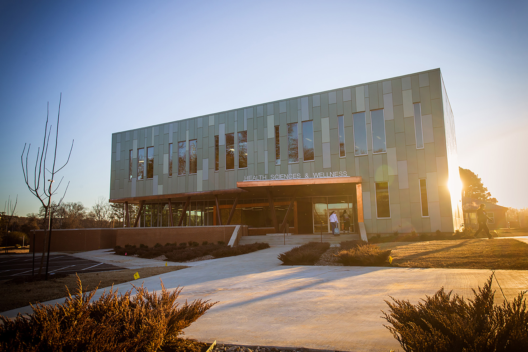 a photo of the ozark campus health science building