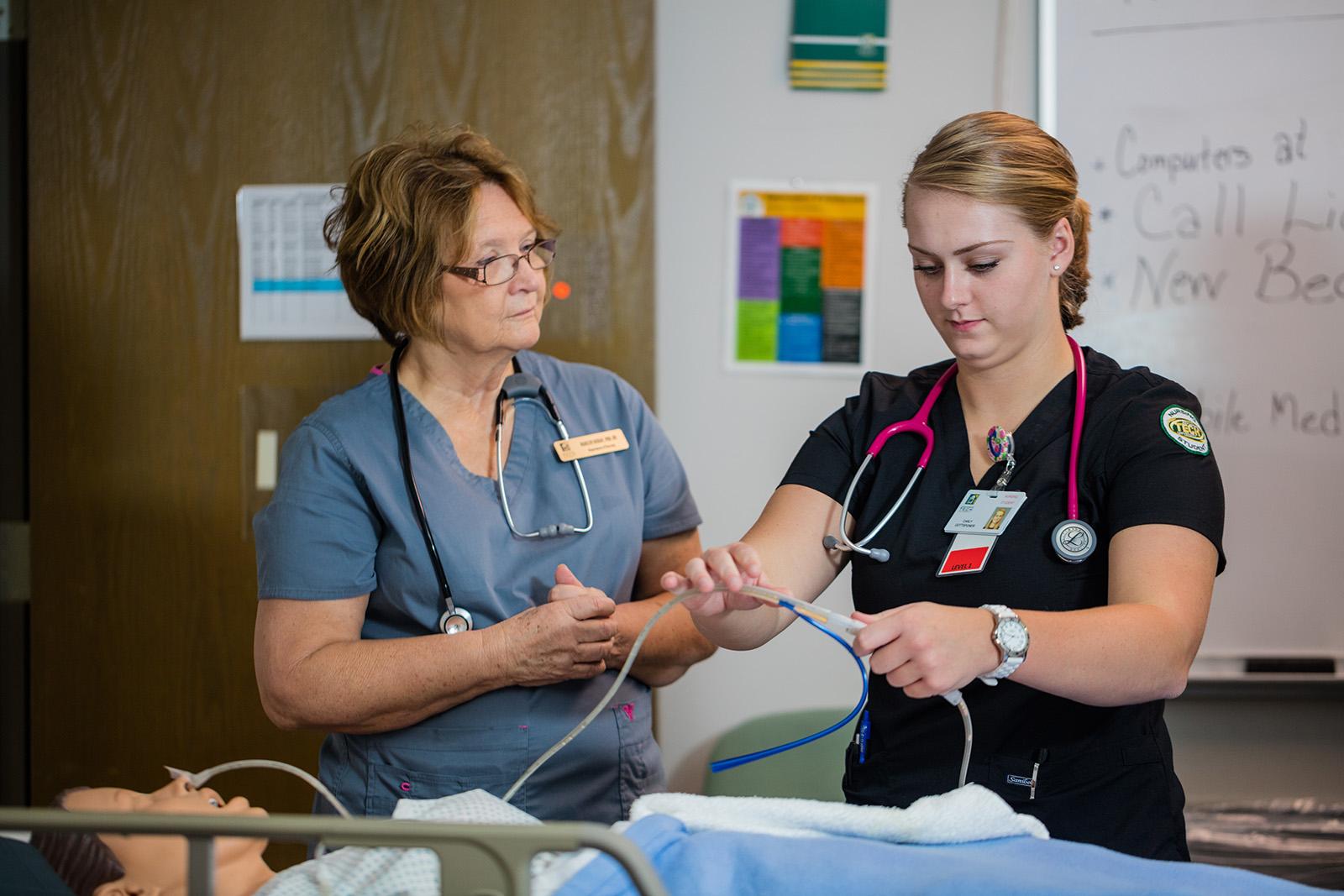 Nursing Students in Skills Class