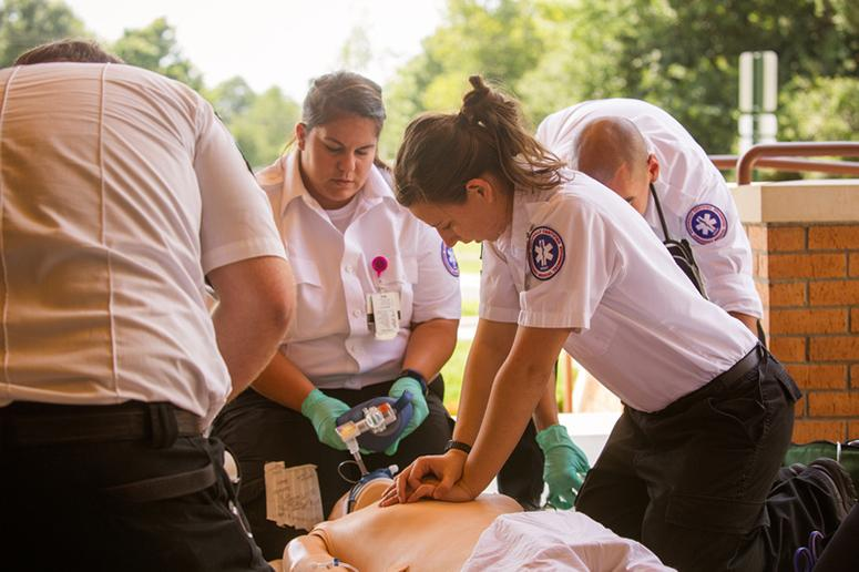 Students learn about emergency services