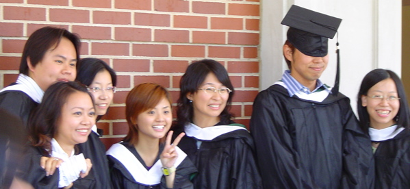 photo of students graduating from the TESOL program